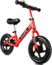 12 Inch Toddler Balance Bike for 3 4 5 6 Years Old for Girls Boys, No Pedal Sport Walking Kids Balance Bike Bicycle Non-Inflatable Foam Tire with Adjustable Handlebar/Saddle