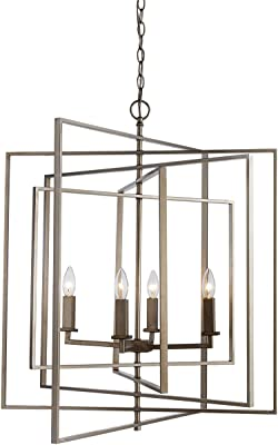 """Park Harbor PHPL5118ORB 24"""" Wide 8 Light Pendant with Cage"""