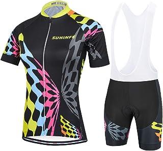 ZWW Maillot Cyclisme Femmes Maillots Femme Route VTT Chemise /à Manches Courtes Fille Racing Top Skull Rouge Noir /Ét/é Respirant S/échage Rapide Sweat-Absorption