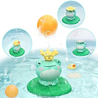 Baby Toddler Bath Toy Fancy Fountain Toy Safety Durable Interactive Electric Frog Pool Toys With 5 Different Spraying Acce...