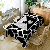 XXDD Mantel Simple patrón de Huella de Piedra de Dibujos Animados Mantel de Restaurante Mantel Lavable Cubierta de Mesa A1 140x180cm