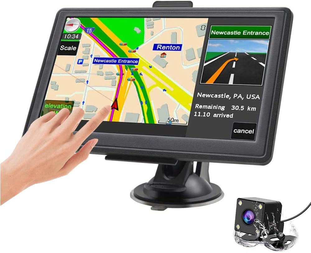 5 Inch Navigator GPS Navigation System with UK//EU//World Maps HD Touch Screen Lifetime Free Update SAT NAV Post Code POI Search Speed Cam Alerts Lane Guidance for Car Truck Lorry Motorhome