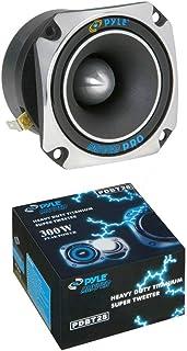 1 PYLE PDBT28 super tweeter driver quadrato da 8,00 x 8,00 cm 150 watt rms 300 watt max 104 db di sensibilita per portiere sportelli spl auto, 1 pezzo