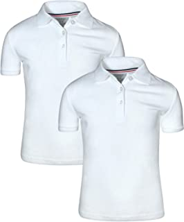 Girl's Uniform Polo 2 Pack Short Sleeve Interlock