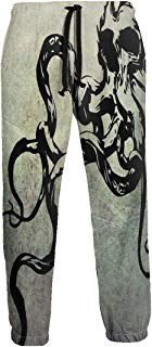 NTQFY Octopus Skull Men's Sweatpants Comfy Jogger Pants with Pockets Lightweight Athletic Pant