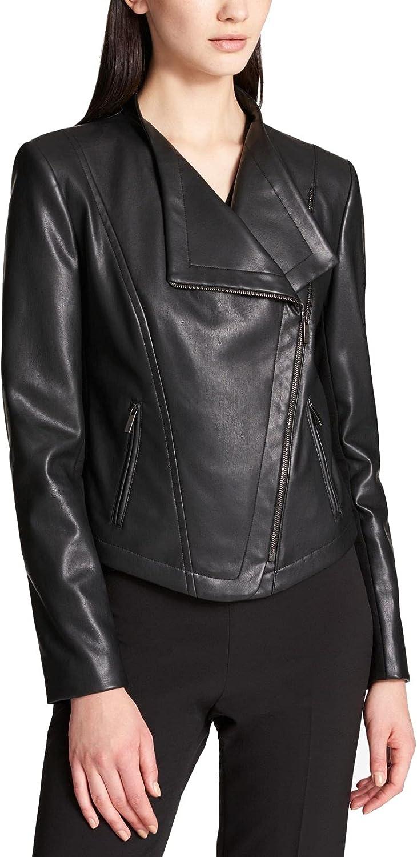 DKNY SPORTSWEAR Women's Missy Mixed Media Jacket