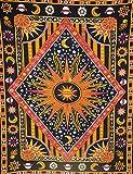 INDIAN CRAFT CASTLE ICC Burning Sun Tie Dye Tapisserie