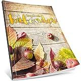 Tagebuch kalender: One Line A Day • Ca. A4-Format, Notizseiten & Zitate für jeden Monat • Kalenderbuch, Tagesplaner, Terminkalender • ArtNr. 10 Herbstlich • Vintage Softcover