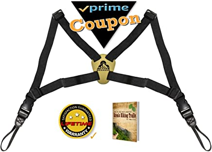 Active Seasons Binocular Harness | Best Camera Strap for Men & Women, Adjustable Fit Conforms Evenly Thru Chest & Shoulders, Ideal for Hunters, Hikers, etc. and Bonus E-Book!