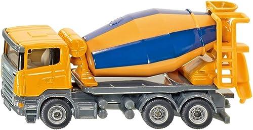 SHLIN-Auto Model Spielzeugauto-Modell-Simulations-Technik-Fahrzeugmodell-Legierungs-Auto-Modell der Kinder - Zementmischer-Auto für Geschenk der Kinder (Farbe   Gelb)