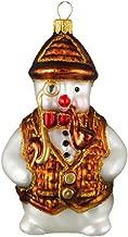 Pinnacle Peak Trading Company English Snowman Polish Glass Christmas Ornament Sherlock Holmes Detective
