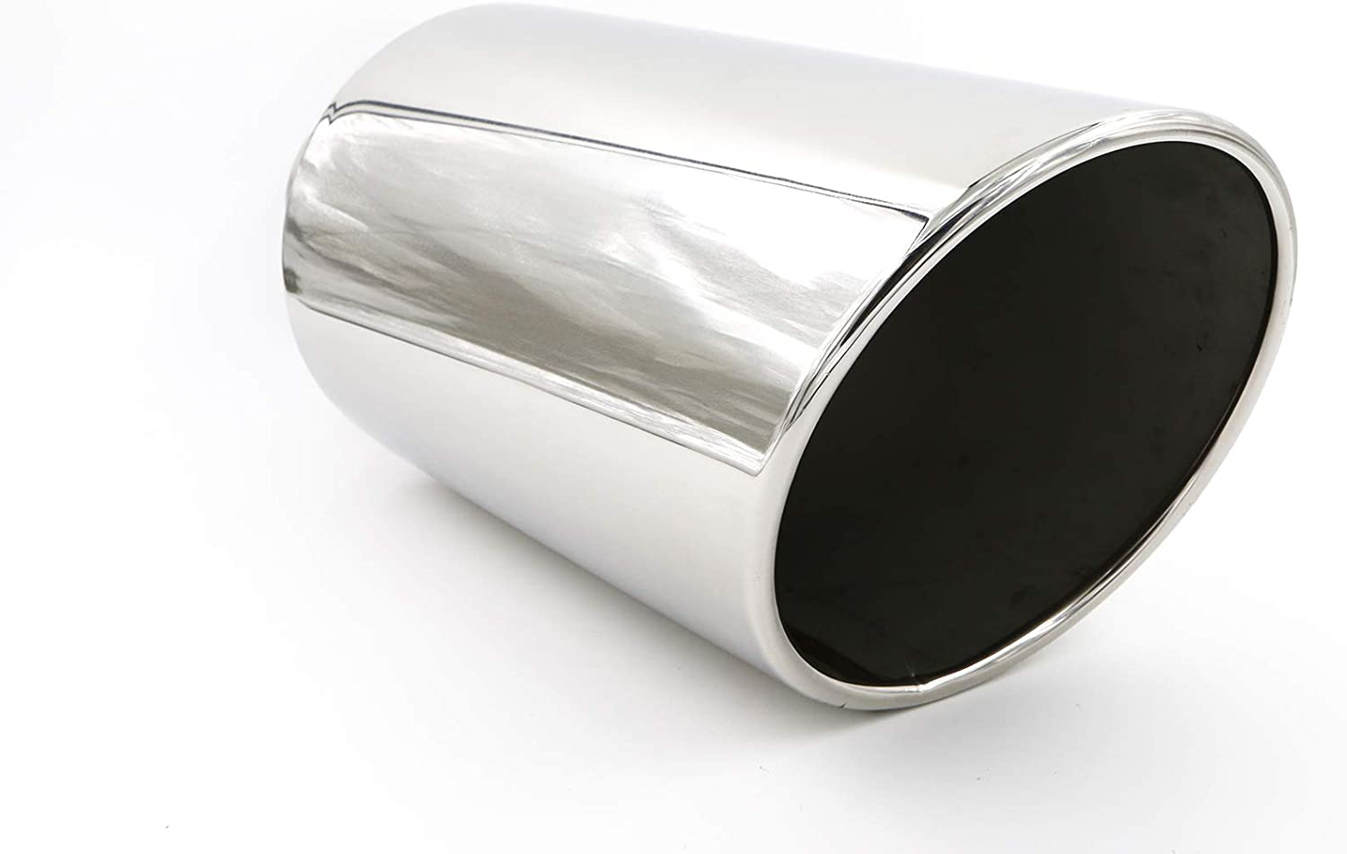 4 Inlet 8 Outlet 18 Long Stainless Steel Rolled Edge Exhaust Tip Diesel EXT28 RP Remarkable Power