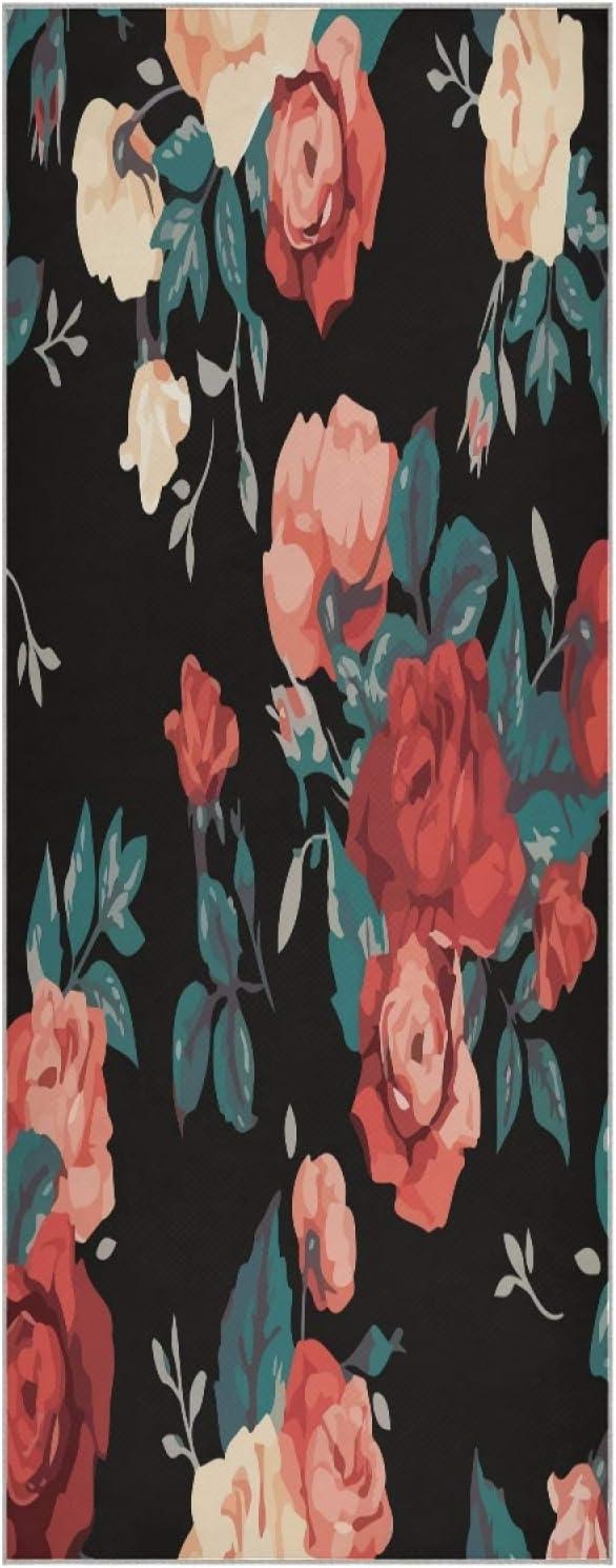 Save money 73 Inch Yoga Mat Towel Rose wholesale Floral Slip Tropical Non Flower Fold