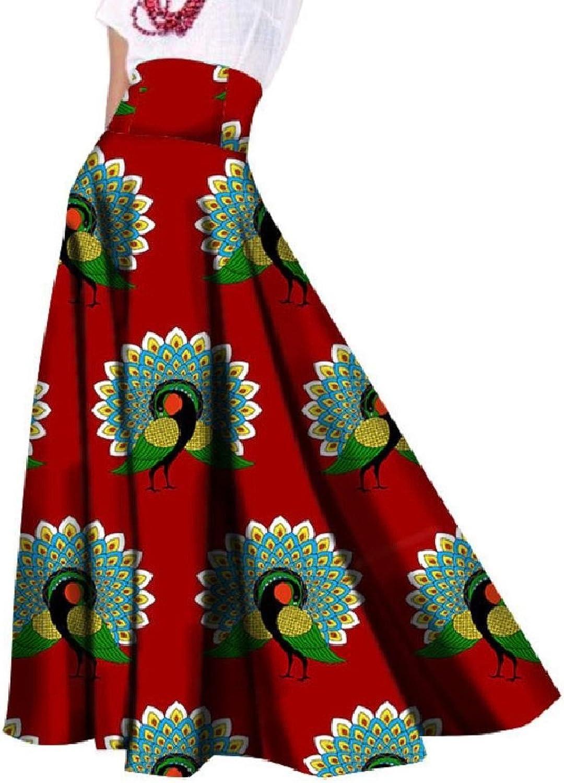 CoolredWomen Batik Party African Dashiki High Waist Ankle Length Skirt