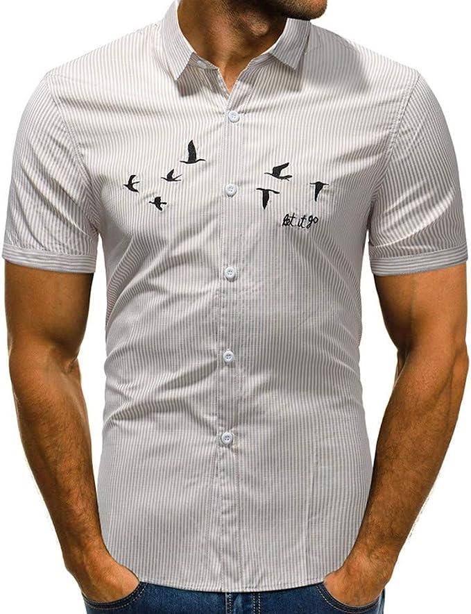 NSSY Camisa de Hombre Vestido de Verano Camisa de ...