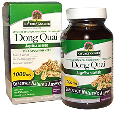 Nature's Answer - Dong Quai Root Single Herb Supplement - 90 Vegetarian Capsules from Nature's Answer