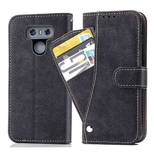 Asuwish Funda de piel para LG G6, plegable, con tarjetero, función atril,...