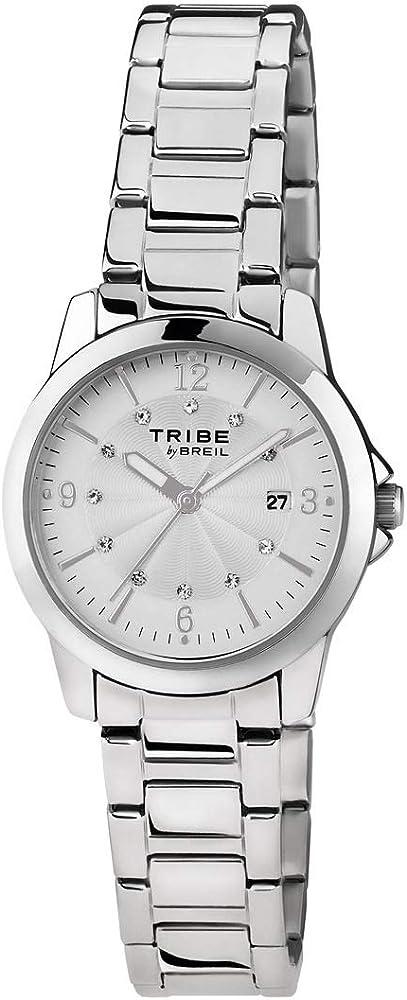 Breil - orologio da donna classic elegance, in acciaio ,quadrante con cristalli EW0195