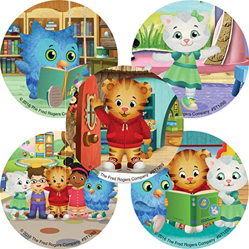 SmileMakers Daniel Tiger's Neighborhood Stickers - Prizes and Giveaways - 100 per Pack