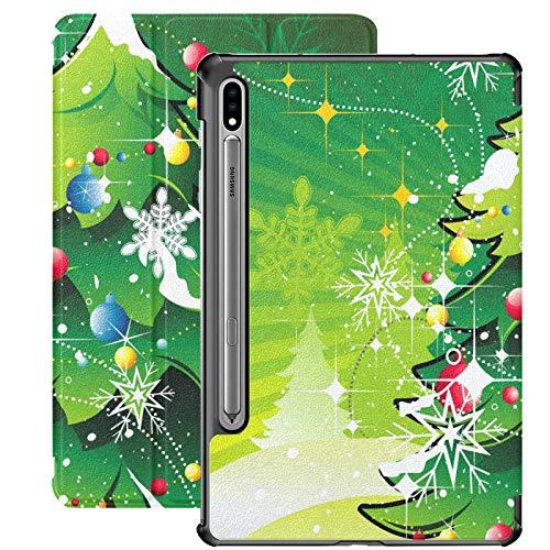Saludo navideño Año Nuevo Árbol de reunión Familiar Funda Galaxy Tab E para Samsung Galaxy Tab S7 / s7 Plus Funda Samsung Galaxy Tab S7 Plus Soporte Cubierta Trasera para Samsung Galaxy S7 para Gala