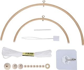 Bricolage bébé berceau Mobile, lit en bois fait à la main cloche Style nordique perles carillon bébé photographie accessoi...