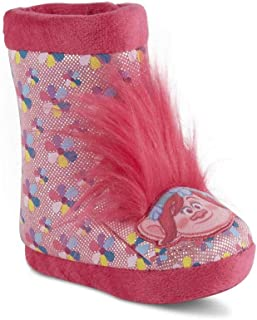 BBC International Trolls 女童粉色短靴拖鞋