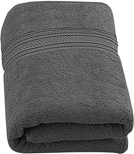 Utopia Towels - Luxurious Jumbo Bath Sheet (35 x 70 Inches, Grey) - 700 GSM 100% Ring Spun Cotton Highly Absorbent and Quick Dry Extra Large Bath Towel - Super Soft Hotel Quality Towel