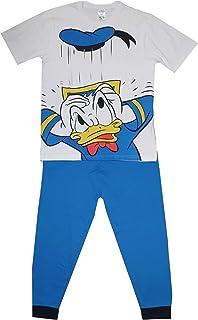 Mens Donald Duck Pyjamas Character Nightwear Short Sleeved Top & Bottoms