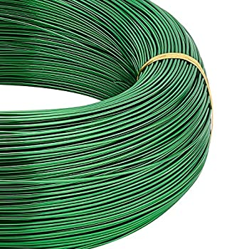 BENECREAT 656 Feet 18 Gauge Aluminum Wire Bendable Metal Sculpting Wire for Beading Jewelry Making Art and Chrismas Craft Project Green