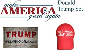 ALBATROS 3 ft x 5 ft Donald Trump President White with Red Hat with Flag Set for Home and Parades, Official Party, All Weather Indoors Outdoors