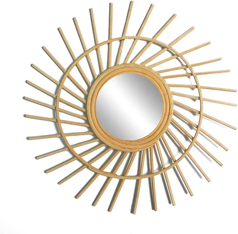 PQFYDS Wall Hanging Mirror Dressing Table Mirror Natural Home Decoration For Living Room Bedroom Corridor