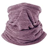 ChinFun Thermal Fleece Balaclava Cold Weather Windproof Tactical Half Face Mask Neck Gaiter Warmer Protection for Motorcycling Cycling Hiking Skiing Fishing Hunting Jogging Camping Heather Coffee