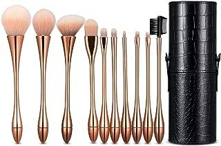 10Pcs Makeup Brush Set Professional Cosmetic Brushes For Blending Foundation Powder Blush Concealers Highlighter Eye Shadows Brushes Kit