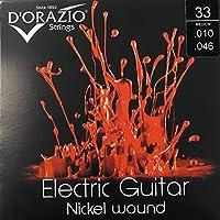D'Orazio Strings Electric Guitar Nickel Round Wound ドラジオストリングス エレクトリックギターニッケルラウンドワウンド 国内正規品 (33(Medium 010-046))