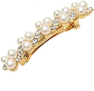 IDS 水钻水晶珍珠发夹发夹发饰别针适合女孩和女士