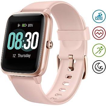 UMIDIGI Smartwatch Fitness Tracker Orologio Uwatch3, Smart Watch Donna Uomo Bambini Cardiofrequenzimetro da Polso Contapassi Sportivo Activity Tracker per Android iOS Xiaomi Samsung Huawei - Oro Rosa