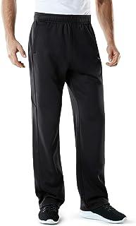 TSLA Men's Fleece Tapered Pants Training Active Thermal Sweat Bottom/Jogger Pants