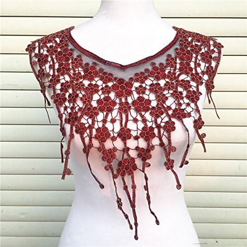 Craft Black Lace Embroidered Neckline Neck Collar Trim Clothes Applique S9Z4