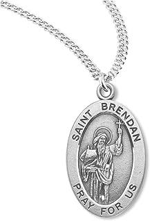 BERTOF SAINT BRENDAN STERLING SILVER BERTOF Medal 7/8
