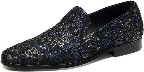 GDXH Nouveau Hommes Chaussures d'affaires 2018 nouveau été Hommes Chaussures Broderie Mode Chaussures Chaussures de Mariage Chaussures Formelles