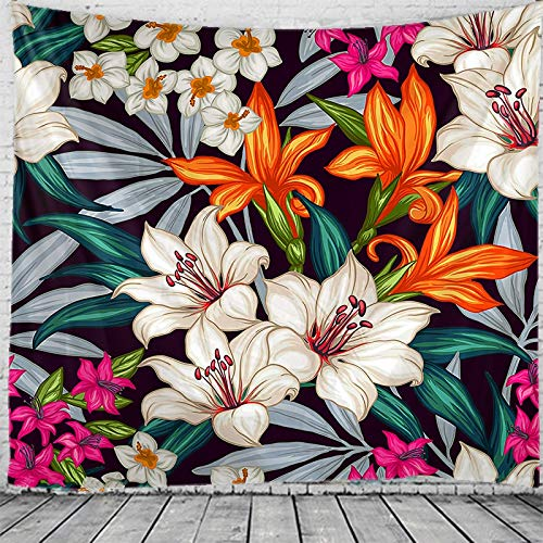 Tapiz de planta tropical mandala colgante de pared revestimiento de pared yoga hippie bohemia brujería tapiz de sala de estar A1 130X150CM