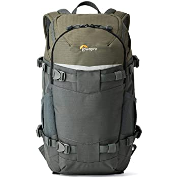 Lowepro LP37014-PWW, Flipside Trek BP 250 AW Backpack for Camera with ActiveZone Suspension System, Tablet Compartment, Grey/Dark Green