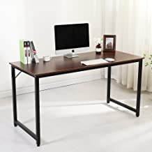 Soges Computer Desk 55 inches Sturdy Office Meeting Training Desk Writing Desk Workstation Computer Table, Walnut JJ-T-140