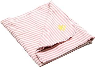 Nozone UPF 50+ Sun Protective Baby Blanket in Mellow Rose/White Stripe