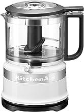 KitchenAid 5KFC3516S Mini robot de cocina clásico, 0.83 litros, 240W, blanco