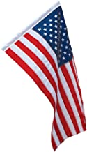 Banner Sleeved American Flag 2.5x4 Ft Nylon Presidential Series Sewn 2-1/2'x4' US Flag 30x48in