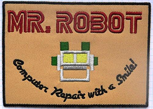 Mr Robot fsociety TV Show gamuza de bordado iron on patch