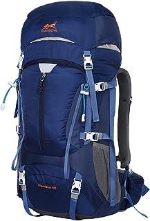 50L Mochilas de Montaña Acampada al Aire Libre Impermeable Macutos de Viaje Senderismo Trekking con Cubierta de Lluvia