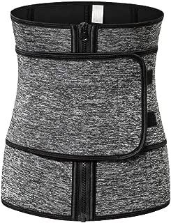 Milisten Weight Loss Belt Waist Trainer Belt Sports Workout Shapewear Waistband Body Shapers for Lady Grey 1pc (Size 3XL)