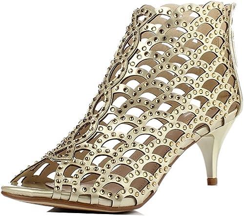 Sandales à Talons Hauts Femmes Sexy HolFaible Party oren Femmes Sandales (Couleur   Height 6cm, Taille   34 UK3.5 US4.5 220mm)